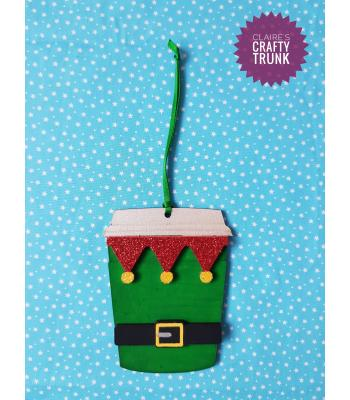 Elf Christmas Coffee Cup Hanging Decoration