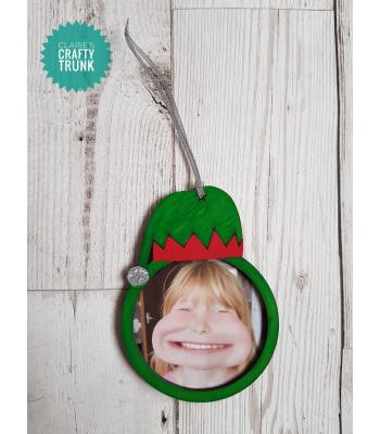 Elf Hat Hanging Photo Frame Bauble - More Designs Available