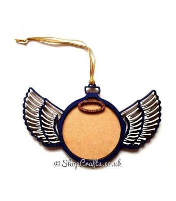 Angel Wings Hanging Photo Frame Bauble - More Designs Available