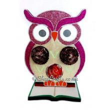 Owl 6mm Thick Ferrero Rocher, Lindt, or Bath Fizz Holder on a Book Stand - More Designs Available