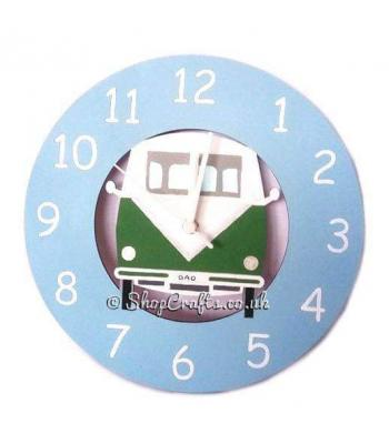 VW Campervan Hanging Wall Clock - More Designs Availabe