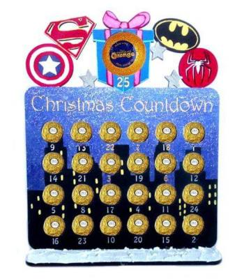 Superhero Reusable 6mm Thick Ferrero Rocher /Lindt & Terry's chocolate orange advent calendar