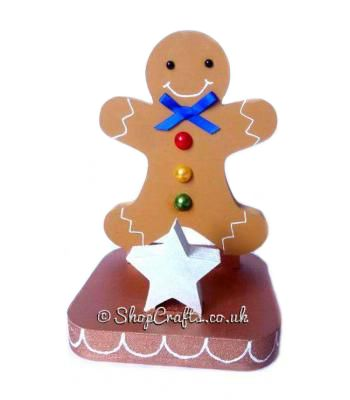 Gingerbread Man 18mm thick Freestanding Reusable Stocking Holder