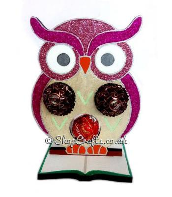 Owl 6mm Thick Ferrero Rocher, Lindt, or Bath Fizz Holder on a BookStand - More Designs Available