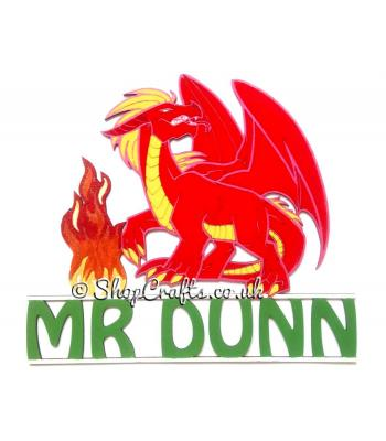 Hanging Personalised Large Detailed Dragon - More Options and Designs Available