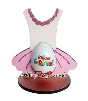 Refillable Ballet Tutu Chocolate Kinder Egg Holder on stand *More designs available.