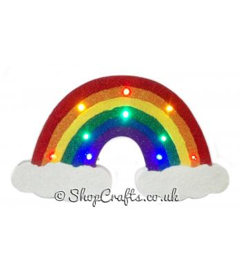 Freestanding Bright Rainbow with LED Lights- More Designs Available