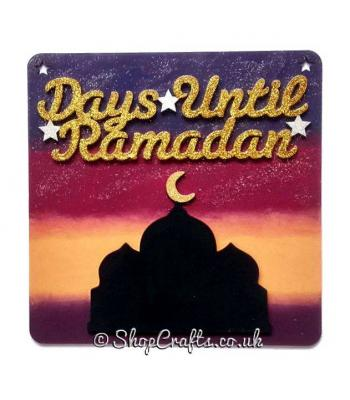 Hanging 3D 'Days Until Ramadan' Countdown Plaque - More Designs Available