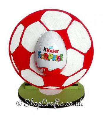 Refillable Football Chocolate Kinder Egg Holder on stand *More designs available.