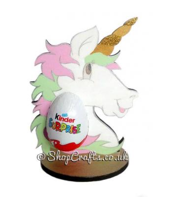 Refillable Unicorn Chocolate Kinder Egg Holder on stand *More designs available.