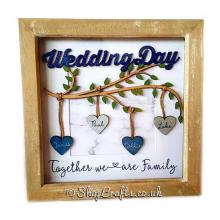 Personalised Wedding Day Branch with hanging hearts - More Designs Available.