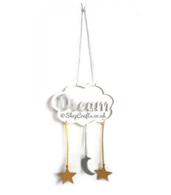 Dream Cloud Dream Catcher With Hanging Moon & Stars