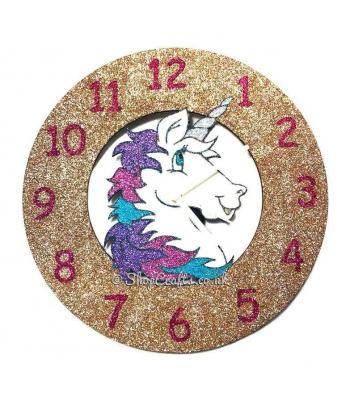 Unicorn Head Wall Clock