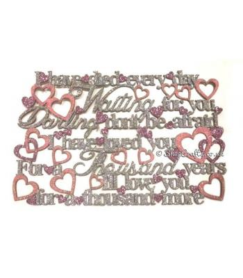 Thousand years song lyrics hanging sign