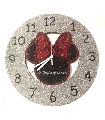 Minnie Mouse inspired wall clock