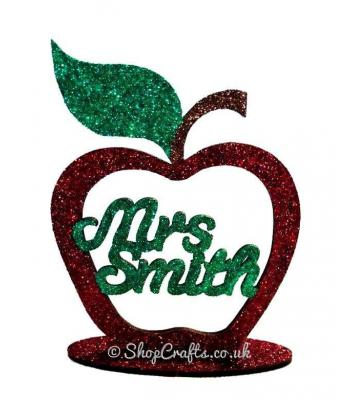 Personalised Teachers Apple Frame on a stand