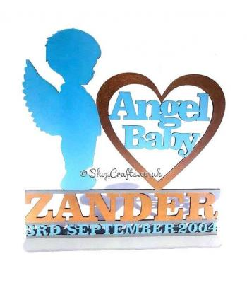 Personalised 'Angel Baby' Sign on Stand - Boy or Girl