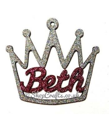 Personalised Crown Shape Name Bauble