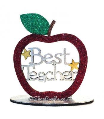 'Best Teacher' Apple on a stand