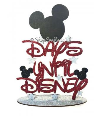 Days until Disney countdown sign on stand