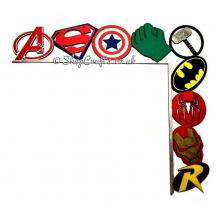 Tumbling Superhero Logos Door Frame Decoration