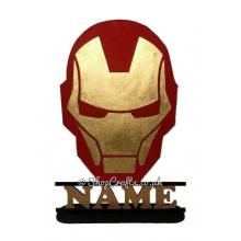 Personalised Ironman Shape on a Stand With Name