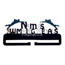 Personalised Large Swimming Medals Holder