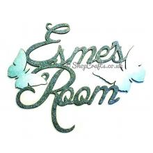 Personalised Script Font Names Room Sign with Butterflies