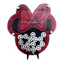 Freestanding Minnie Mouse inspired reward chart drop box