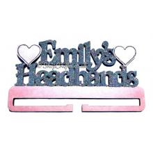 Personalised Large Headband Rail/Holder with Hearts