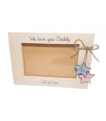 Personalised frame with hanging stars