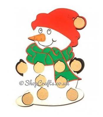 Snowman £1 coin holder