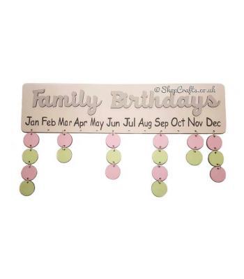 Family birthdays plaque