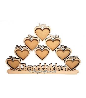 Personalised heart frame - choose name and heart number