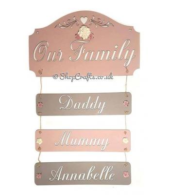 Personalised our family plaque
