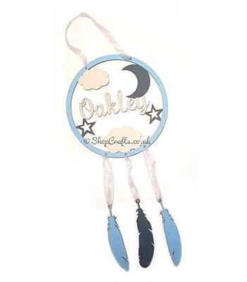 Moon and stars dream catcher