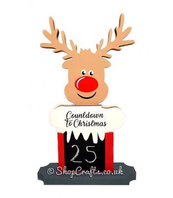 Rudolf countdown chalkboard