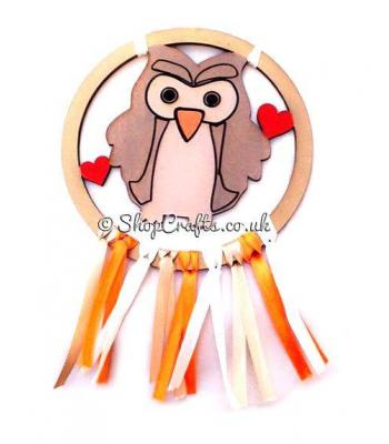 Childrens Owl Mini Dream Catcher