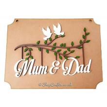 Personalised name or word dove Hanging Plaque