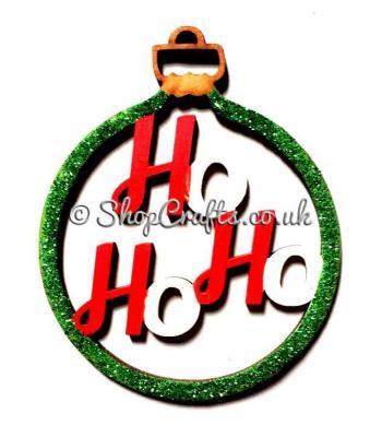 'Ho Ho Ho' Christmas Tree Bauble