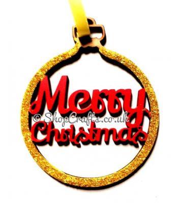 'Merry Christmas' Christmas Tree Bauble