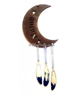 Personalised Name Moon Shape Dream Catcher