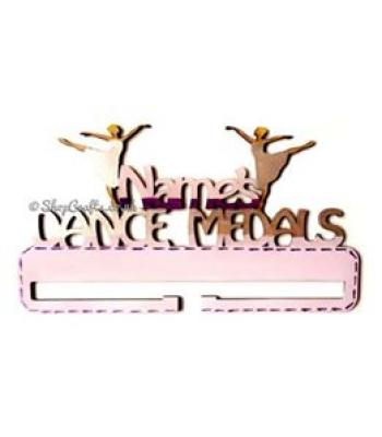 Personalised Name Dance Medal Holder