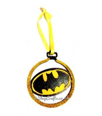 Batman Superhero Logo Christmas Tree Bauble