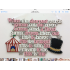 The Greatest Showman 'This is me' Song lyrics with Circus Tent and Top Hat hanging sign