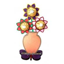 Flower pot Ferrero Rocher holder on a Butterfly stand.