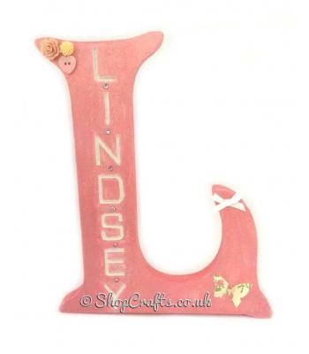 18 mm thick Freestanding Personalised Wooden Letter