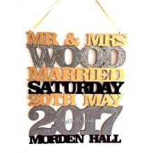 Personalised Large Wedding Details Hanging Sign