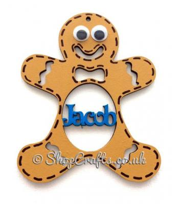 Personalised Gingerbread Name Christmas Tree Bauble