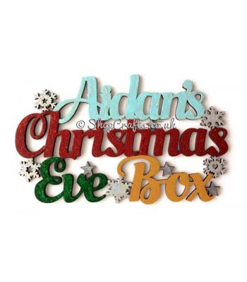 Personalised 'Christmas Eve Box' sign with stars & Snowflakes